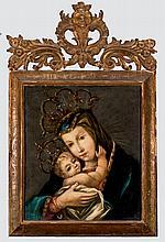 Spanish School, 17th C. Madonna and Child