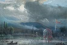 Julio Borrell. The pond