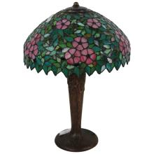 Handel Base w/ Leaded Stained Glass Shade