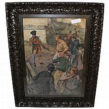 George Gibbs Painting of Pirates