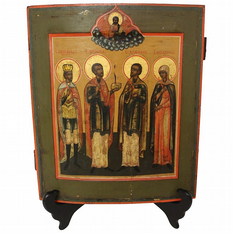 Antique Russion Icon on Panel