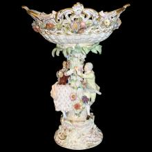Monumental Meissen Compote - Multi-colored