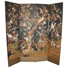 4 Panel Asian Oriental Screen