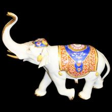 German Porcelain Elephant by Rudolf Kammer