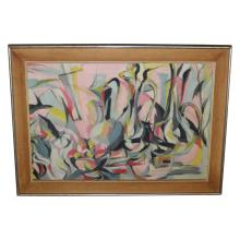 Mid Century Modern Abstract Painting - SIGNED