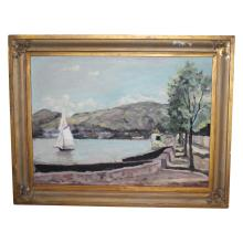 Sailboat on the Water Oil Painting