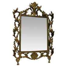 Intricate Wood Carved Mirror