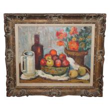 Still Life Oil on Board Painting w or w/out Beautiful Frame