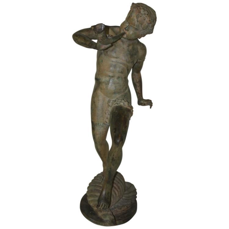 Italian Bronze Garden Statue