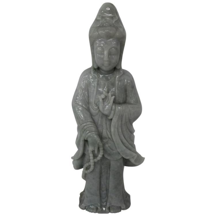 Asian Jade Figural Statue