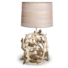 Vintage Gesso Washed Driftwood Table Lamp, circa 1950's