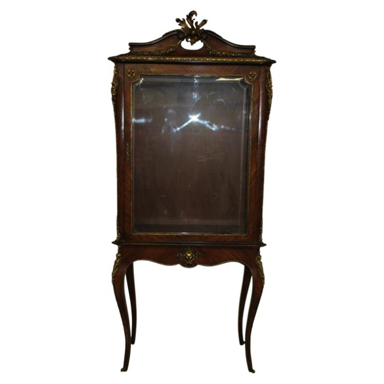 Antique french style curio for Furniture auctions uk