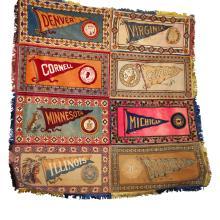 Vintage Rare Fatima Tobacco Banners - Collage Football