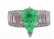 2.19ct Neon Paraiba Tourmaline Ring