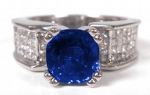 1.92ct Natural Blue Sapphire Ring