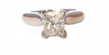 1.09ct Rectangular Diamond Ring