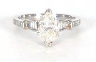 1.17ct Marquise Diamond Ring