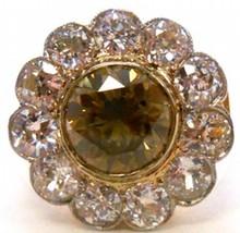 2.70ct Fancy Dark Yellow Brown Diamond Ring