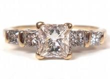 0.57ct Princess Diamond Ring