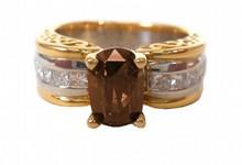 2.00ct Fancy Cognac (Dark Orangy Brown) Natural Diamond Ring