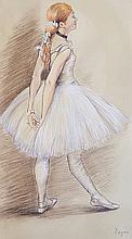 Edgar Degas-(attrib)-Pastel on Paper-Size: 20