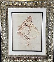 Edgar Degas-(attrib)-Mixed media on Paper-Size: 20