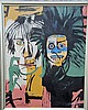 Michel Basquiat-Warhol/Basquiat-Oil On Canvas (Attrib.), Jean-Michel Basquiat, $2,000