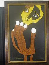 Oswaldo Guayasamin - Untitled - Oil on canvas (Attrib.)