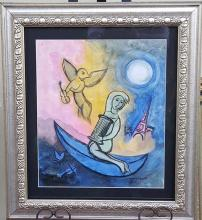 Marc Chagall-Untitled-Watercolor On Paper (Attrib.)