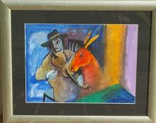 Marc Chagall-Watercolor on Paper-Size: 11