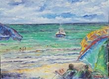 Jose Villareal-Barco-Oil on Canvas (coa.)