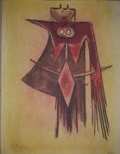 Wilfredo Lam (1902-1982)-Serigraph-Size: 26