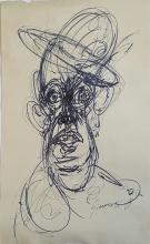 Alberto Giacometti (attrib)-Ink on paper- Size: 14