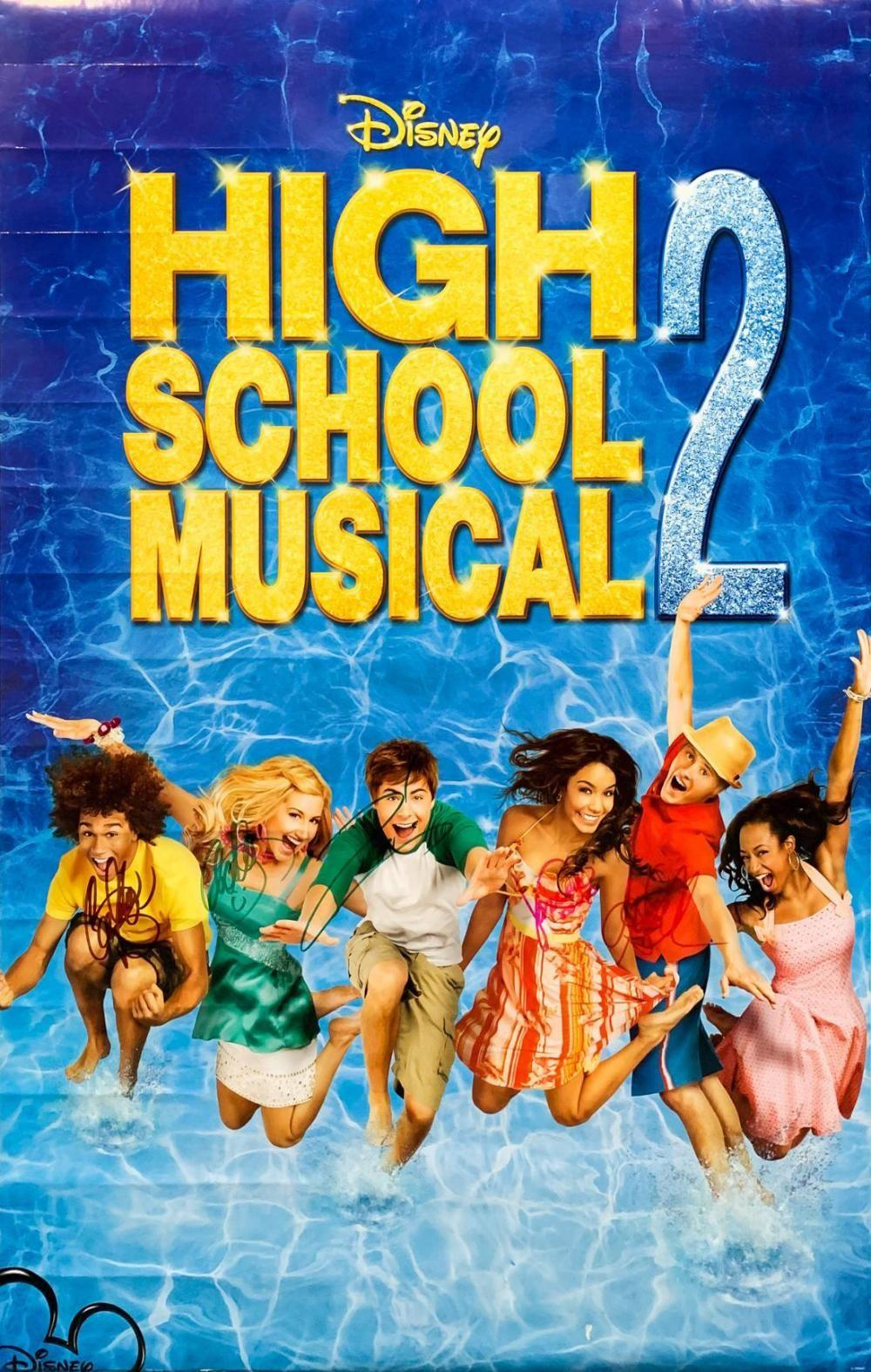"""Blue Water High Cast high school musical ii"""" cast signed poster signed5"""
