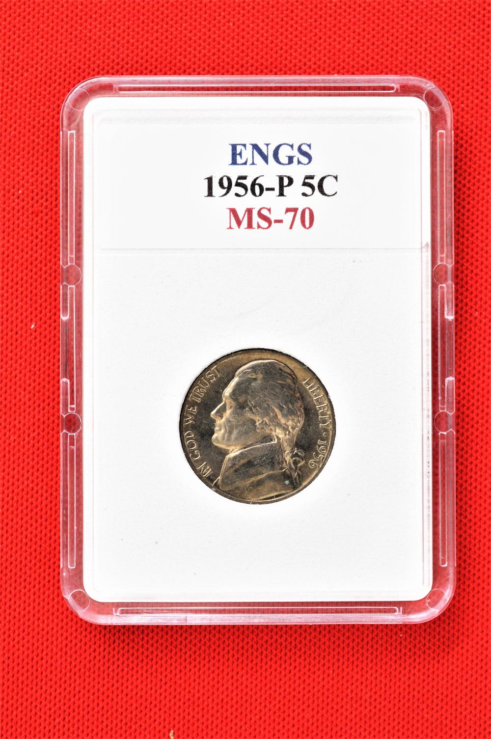 ENGS 1956 P MS 70 Jefferson Nickel