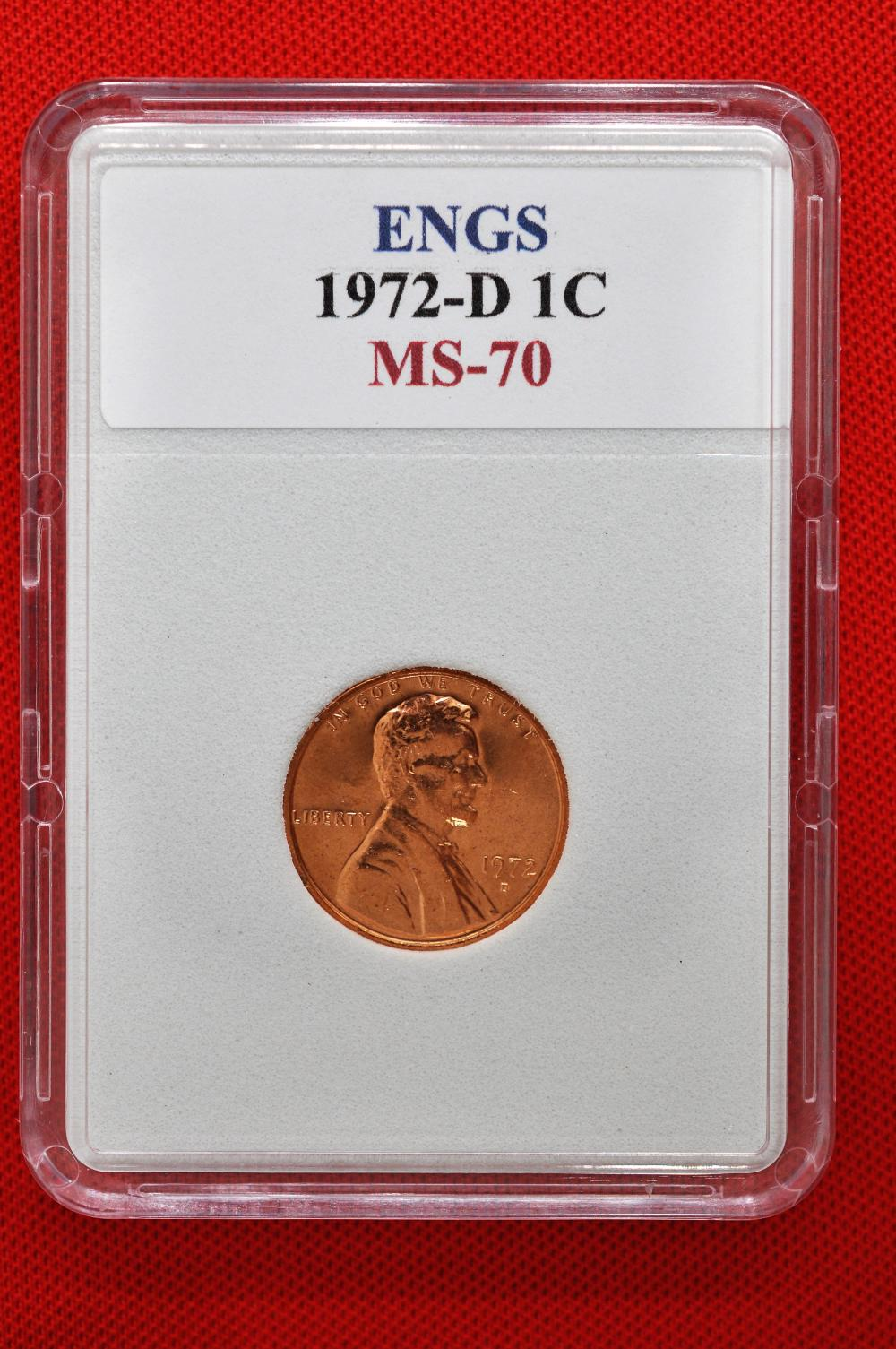 ENGS 1972-D MS-70 Lincoln Memorial Penny/Cent