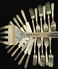 24 pcs Sterling Silver Dominick & Haff Forks Knives Queen Anne Pattern