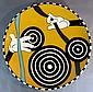 Bull's Eye Mickey Disney Fine Art Ceramic Charger by Lee