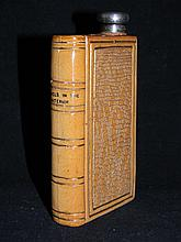 DOULTON LAMBETH BOOK FLASK STERLING LID