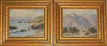 2 EDITH SOWERSBY OIL PANEL LANDSCAPE PAINTINGS
