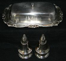 STERLING SILVER TABLE ITEMS: COLUMBIA & FISHER