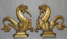 2 VENETIAN GONDOLA SEA HORSE HIPPOCAMPUS OARLOCKS