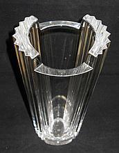 Orrefors Sweden Crystal Flower Vase