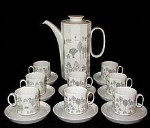 Rosenthal Winterreise Coffee Pot & 8 Espresso Cups
