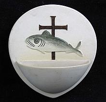 Doulton Prinknash Ceramic Holy-Water Stoup or Font