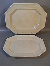 19th c Ironstone Platters J. Furnival, Davenport