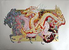 Guillaume Azoulay Dragon D'or Ltd Ed Serigraph