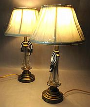 PAIR of WATERFORD Lismore Lead Crystal Table Lamps