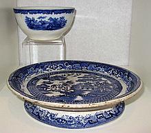 Blue Willow Cheese Plate Humphrey's Clock Ridgways