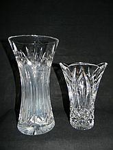 2 Signed WATERFORD Crystal Vases